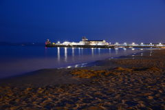 Bournemout Pier. Night Bournemout Pier, long shutter time, about midnight Stock Photo