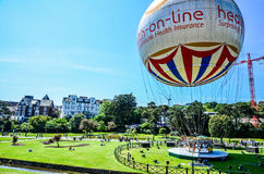 Bournemouth Balloon at the Lower Gardens on a summer day Stock Photos