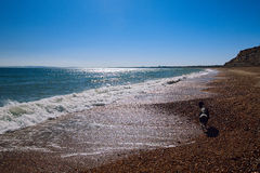 Bournemouth beach and cliffs, North sea, UK Stock Image