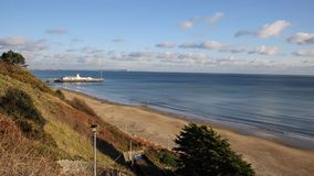 Bournemouth beach and coast Dorset England UK near to Poole known for beautiful sandy beaches stock footage