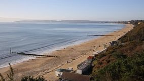 Bournemouth beach England UK south coast near to Poole known for beautiful sandy beaches stock video footage