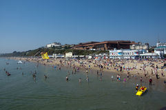 Bournemouth Beach on the hottest day in April Stock Image