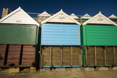 Bournemouth Beach Huts. Beach huts on the prom at bournemouth Royalty Free Stock Photos