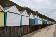 Bournemouth beach-huts Royalty Free Stock Images