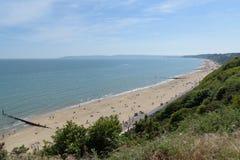Bournemouth beach. Looking towards Sandbanks Royalty Free Stock Photos