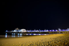 Bournemouth beach at night Stock Photo