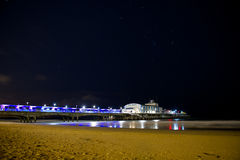 Bournemouth beach at night Royalty Free Stock Image