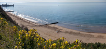Bournemouth Beach and Pier from Cliff Stock Image