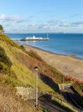 Bournemouth beach pier and coast Dorset England UK Royalty Free Stock Photos
