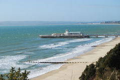 Bournemouth beach and pier Royalty Free Stock Image