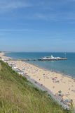 Bournemouth beach and pier Royalty Free Stock Photo