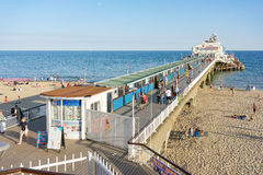Bournemouth beach and Pier on the south coast of the UK in Dorset Royalty Free Stock Image