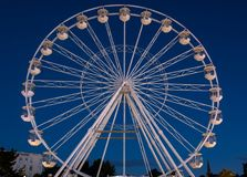 Bournemouth Big Wheel. Ferris wheel near Bournemouth Pier, photographed early morning stock photos