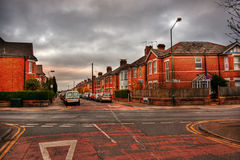 Bournemouth HDR. March 2014, typical English living quarter in Bournemouth, HDR-technique royalty free stock image