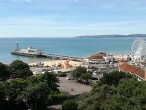 Bournemouth molo fotografia royalty free