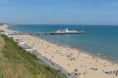 Bournemouth molo i plaża Fotografia Royalty Free