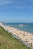 Bournemouth molo i plaża Zdjęcie Royalty Free