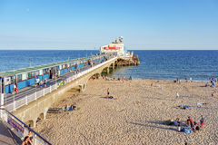 Bournemouth molo w Dorset i plaża Obrazy Stock