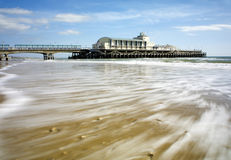 Bournemouth pier. Bournemouth piew with blured water using nd filter Royalty Free Stock Photo