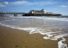 Bournemouth pier. Bournemouth piew with blured water using nd filter Royalty Free Stock Photos