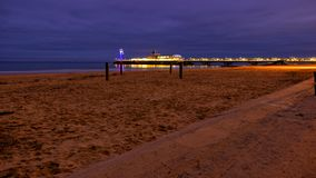 Bournemouth pier at night stock images