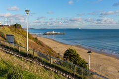 Bournemouth pier and coast Dorset England UK Stock Photography