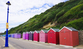 Bournemouth Pier. Colourful beach huts in Bournemouth Pier Royalty Free Stock Images