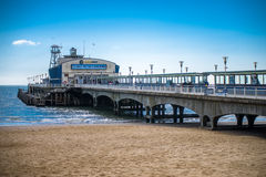 Bournemouth Pier. England seaside - Bournemouth  Bournemouth  is a large coastal resort town on the south coast of England Royalty Free Stock Photography