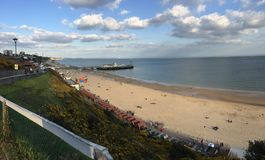 Bournemouth Pier. Bournemouth main beach and pier Royalty Free Stock Photography
