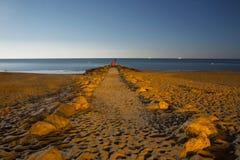 Bournemouth plaża przy nocą obraz royalty free