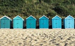Bournemouth plaży budy Obrazy Royalty Free
