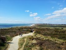Bournemouth sea view from coastal path Stock Photos