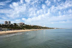 Bournemouth. Seaside resort beach view Royalty Free Stock Images