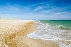 Bournemouth strand och klippor, Nordsjön, UK royaltyfri fotografi