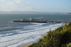 Bournemouth strand och pir Fotografering för Bildbyråer