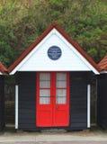 Bournemouth-Strandhütte Lizenzfreies Stockfoto