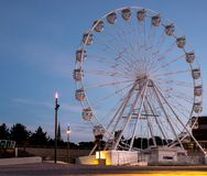 Bournemouth UK. Bournemouth Big Wheel photographed in low light early in the morning. Bournemouth Dorset UK. Bournemouth Big Wheel photographed in low light stock image