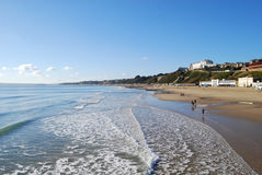 Bournemouth Westcliff. View of Bournemouth Westcliff and beach from Pier Royalty Free Stock Photo