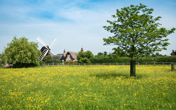 Bournwindmolen, Cambridgeshire, Engeland Royalty-vrije Stock Fotografie