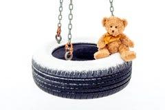 Bourré concernez l'oscillation de pneu Photographie stock