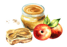 Bourrage d'Apple Illustration d'aquarelle illustration libre de droits