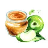 Bourrage d'Apple Illustration tirée par la main d'aquarelle, d'isolement sur le fond blanc illustration libre de droits