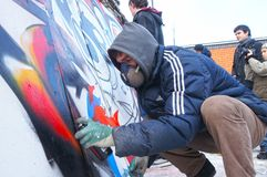 Bourrage de graffiti Photos libres de droits