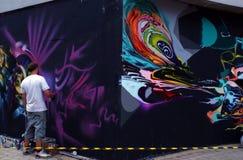 Bourrage Londres 2010 de graffiti photographie stock