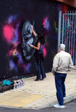 Bourrage Londres 2010 de graffiti image stock