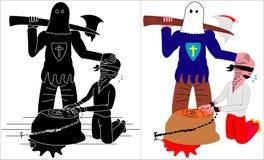 Bourreau et voleur illustration de vecteur
