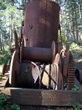 Bourrique de vapeur trouvée en bois Images libres de droits