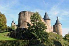 Bourscheid-Schloss Stockbild