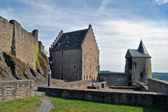 Bourscheid slott Royaltyfria Bilder