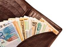 Bourse avec de l'argent photographie stock